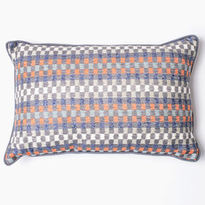 Heather Check Woven Cushion Cover - patterned cushions