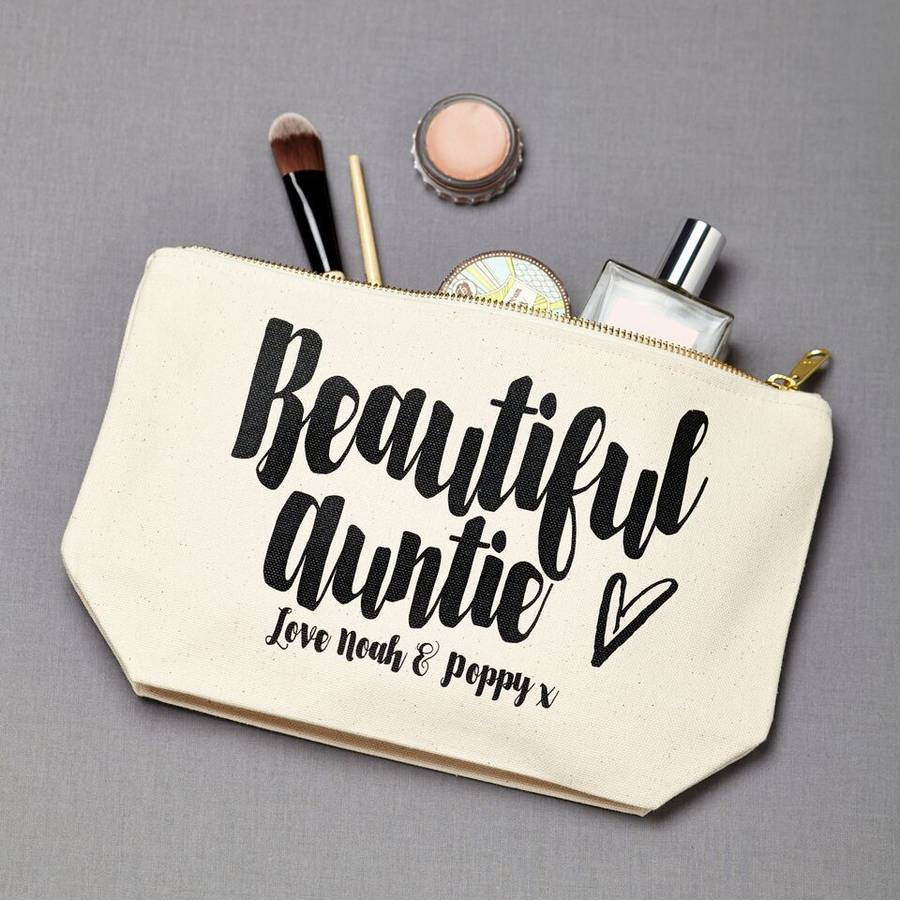 Personalised beautiful auntie make up pouch by tillyanna personalised beautiful auntie make up pouch negle Image collections