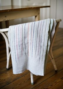 Chalkney Stripe Woven Throw Grey