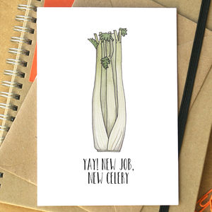'Yay! New Job, New Celery' Card
