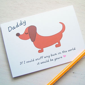 Fathers Day Funny Card From Your Dog
