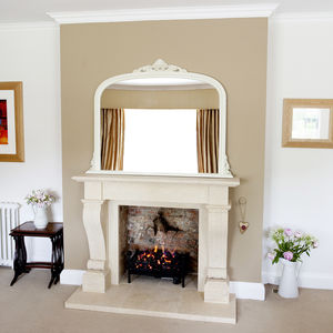 Ivory Overmantle Mirror - as seen in the press