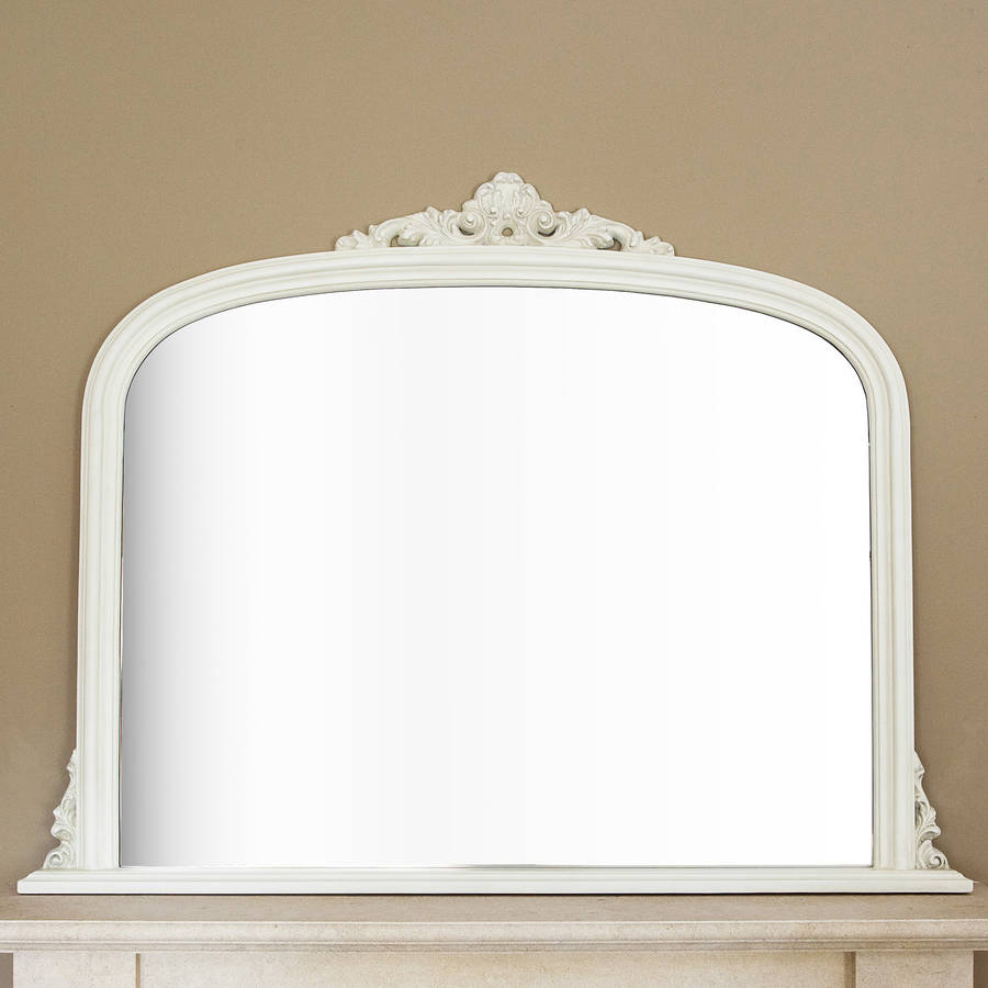 Ivory overmantel mirror by decorative mirrors online for Decorative mirrors
