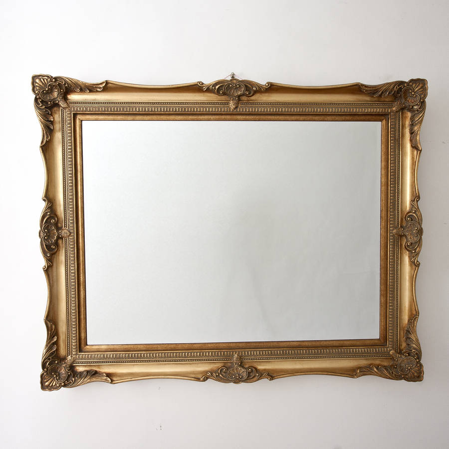 Traditional classic mirror gold by decorative mirrors for Classic mirror