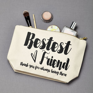 Personalised 'Bestest Friend' Make Up Pouch - make-up bags