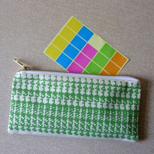 'Number Crunch' Printed Canvas Pencil Case