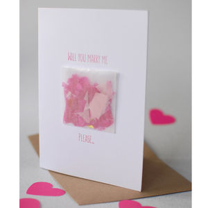 'Will You Marry Me' Confetti Proposal Card