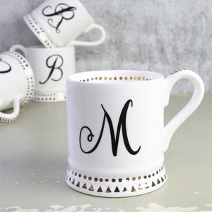 Cursive Monogram Mug - gifts for her