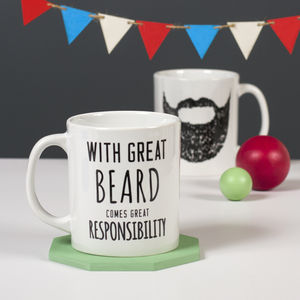 'Great Beard' Man Mug - stocking fillers under £15