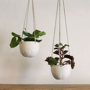 Porcelain Lace Star Hanging Planter
