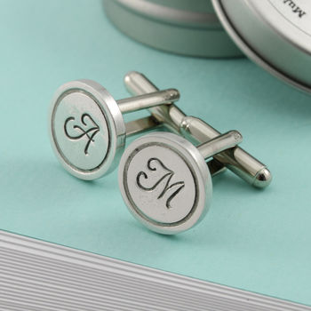 Best Man Gift Personalised Round Cufflinks