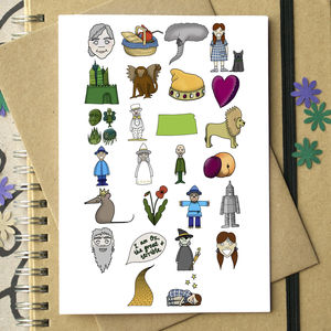 Wizard Of Oz Alphabet Card - cards sent direct