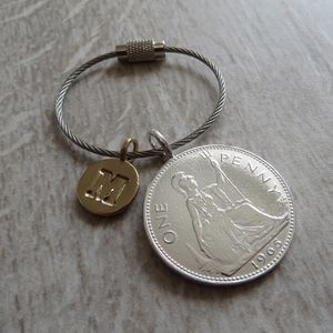 Lucky Penny Keyring - women's accessories