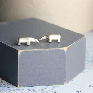 Inuit Bear Studs - earrings