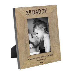 Me And Daddy Personalised Daddy Photo Frame - children's pictures & paintings