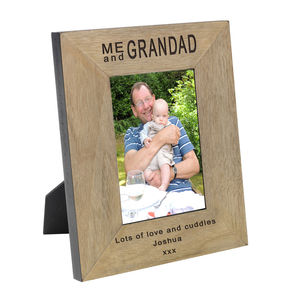 Me And Grandad Personalised Photo Frame - picture frames