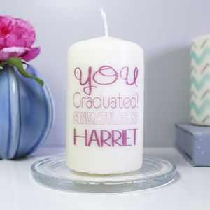 Personalised Graduation Candle - occasional supplies