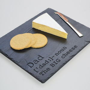 Cheesy Dad Definition Slate Cheese Board - cheese boards & knives