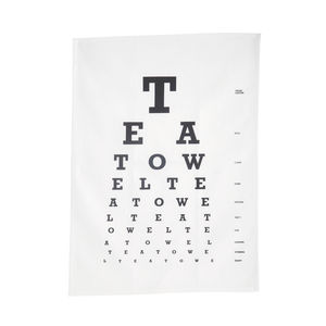 Eye Test Tea Towel - kitchen linen