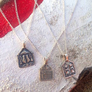 Silver Charm Necklace Protection