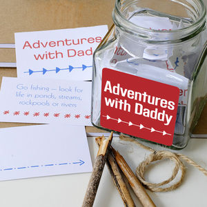 'Adventures With Dad' Jar - cards & wrap sale