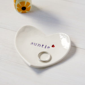 Gift For 'Auntie' Ceramic Ring Dish - jewellery storage & trinket boxes