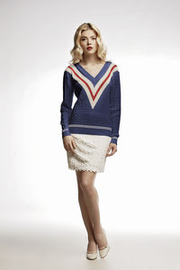 Blue Cricket Cashmere And Cotton Blend Jumper