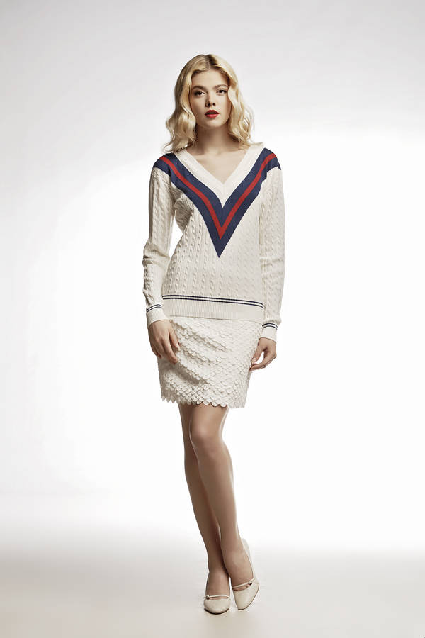 White Cricket Cashmere And Cotton Blend Jumper