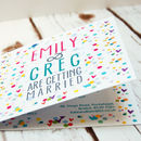 Wedding Invitation 'Confetti' Design Range