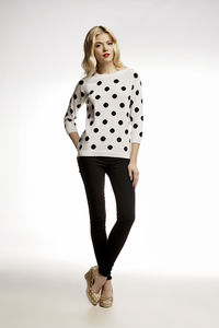 Polka Dot Intarsia Knitted Jumper - jumpers