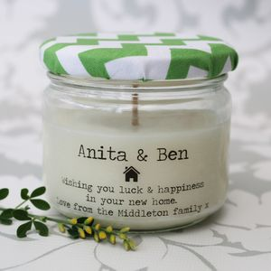 Personalised 'New Home' Candle - candles & home fragrance