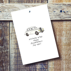 Your Car Personalised Card - special age birthday cards