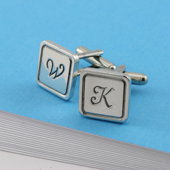 Personalised Monogrammed Square Cufflinks