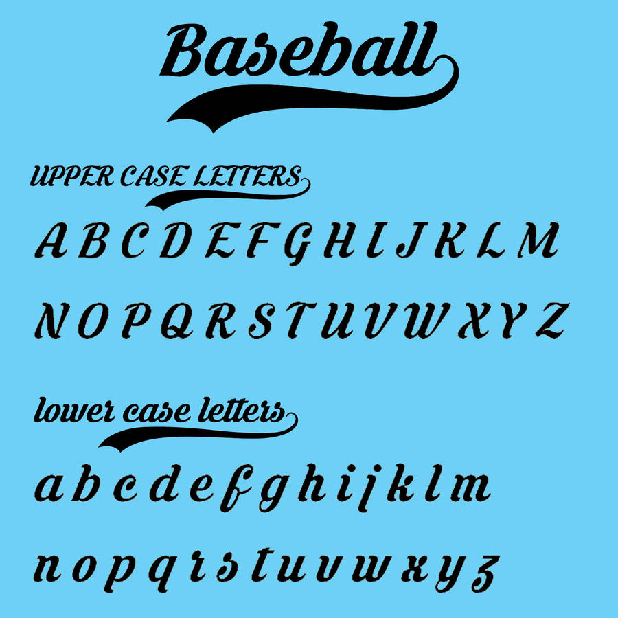 Baseball Jacket Font - My Jacket