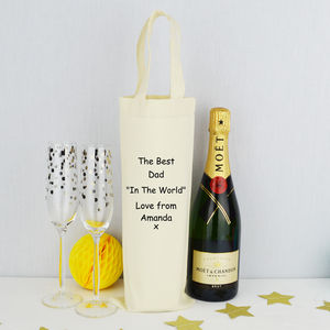 Personalised 'Best Dad' Bottle Bag