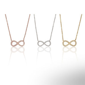 Large Infinity Necklace With Crystals - women's jewellery