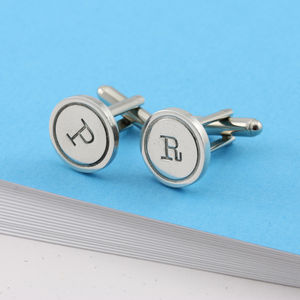 Personalised Initial Monogrammed Rd Cufflinks - men's accessories