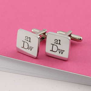 Periodic Table Pewter Cufflinks