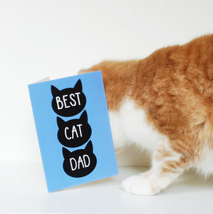 Father's Day Card From The Cat 'Best Cat Dad'