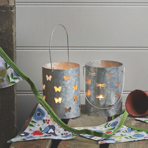 Zinc Garden Lantern - lights & lanterns