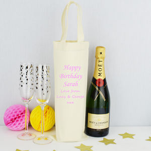 Personalised 'Her' Birthday Bottle Bag - gift bags & boxes