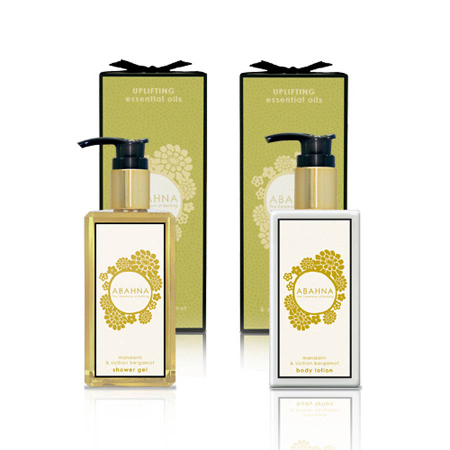 Abahna Mandarin And Sicilian Bergamot Shower Gel/Body Lotion