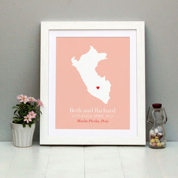 Engaged In Peru Personalised Print