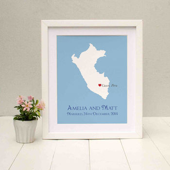 Wedding In Peru Personalised Print