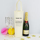 Personalised 'Bridesmaid' Bottle Bag - cards