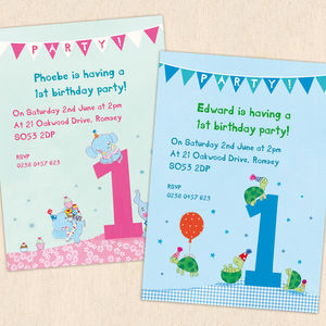 Personalised First Birthday Party Invitations - personalised