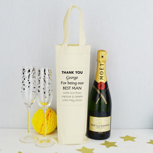 Personalised 'Best Man' Bottle Bag - wedding cards & wrap