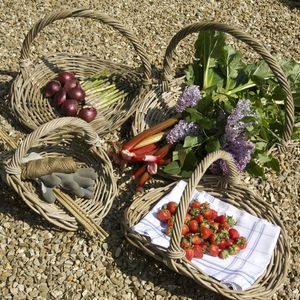 Willow Flower And Vegetable Basket - storage