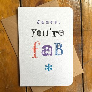 You're Fab Greeting Card