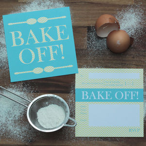 Bake Off Party Invitations - baking